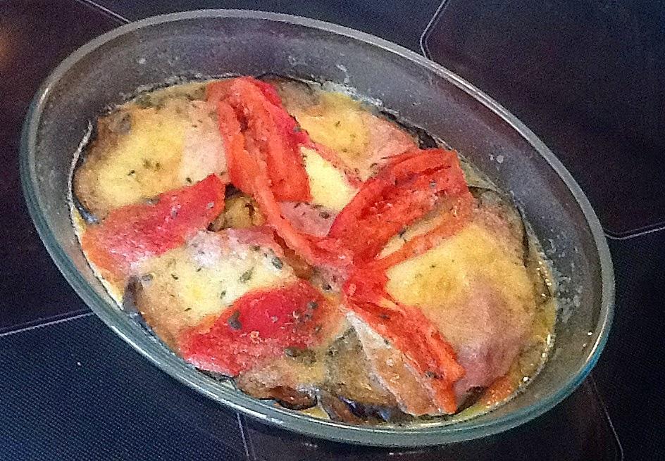 Cuisiner comme lettie les aubergines la mozzarella - Cuisiner aubergine a la poele ...