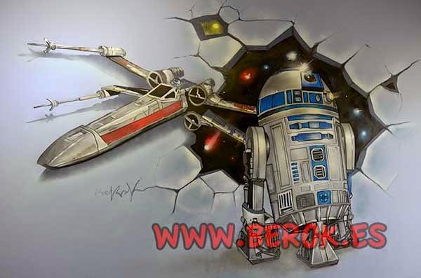 Mural de la guerra de las galaxias