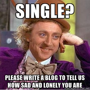 Trials and Triumphs: Willy Wonka Meme, Single Write a blog post