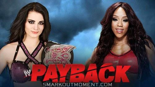Divas Championship Paige vs Alicia Fox Payback 2014 Spoilers
