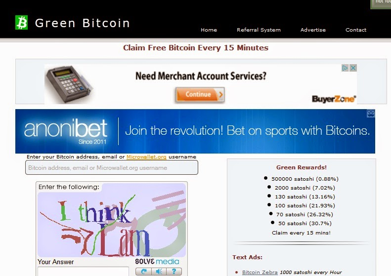 Online business, Green Bitcoin, Bitcoin faucets