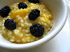 Mango Barley Porridge with Blackberries