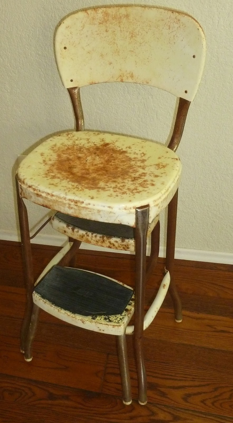 Observations vintage step stool chair for Stool chair