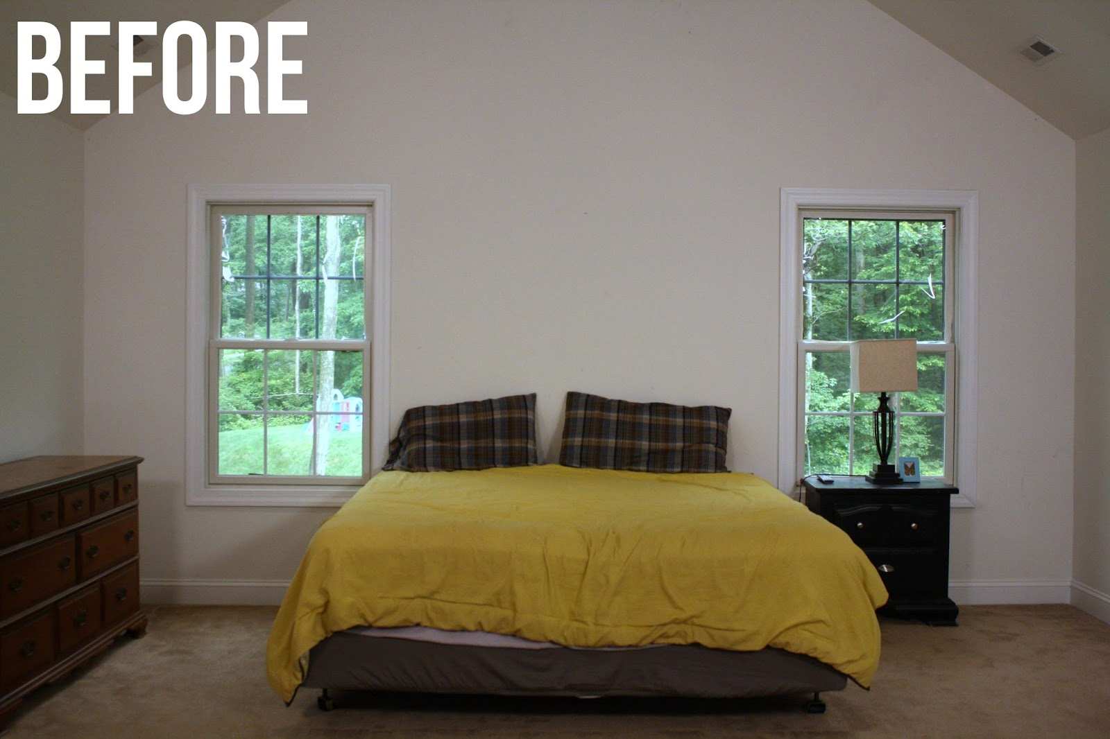 Rustic industrial bedroom makeover knock it off Industrial bedroom