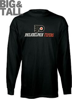 Big and Tall Philadelphia Flyers Long Sleeve Shirt