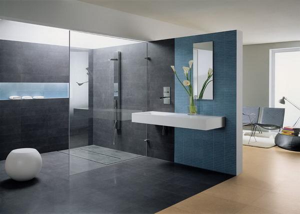 Idées de décoration de la salle de bain en bleu ~ Décor de Maison ...