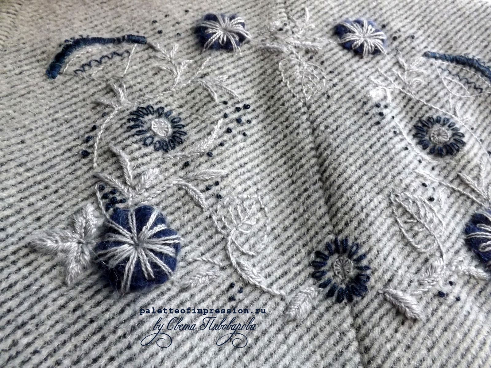 Декоративная вышивка блога Вся палитра впечатлений