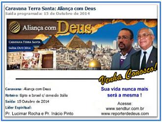CARAVANA TERRA SANTA - ALIANÇA COM DEUS