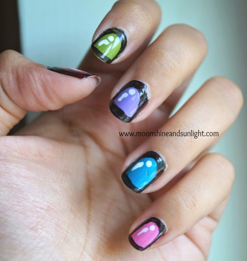 Cartoon nails! | | Nail art , comic nail art