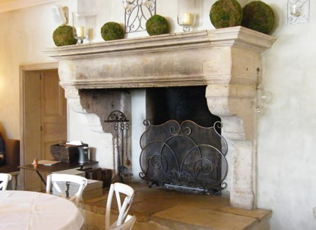 Neutral heaven interior design and mood creation french for French country stone fireplace