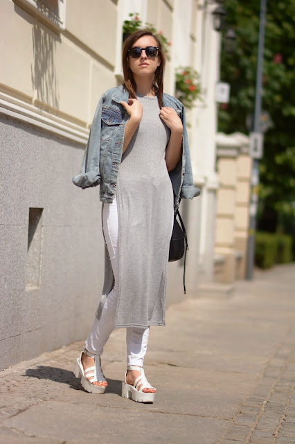 minimal ootd blogger inspiration white gray layers