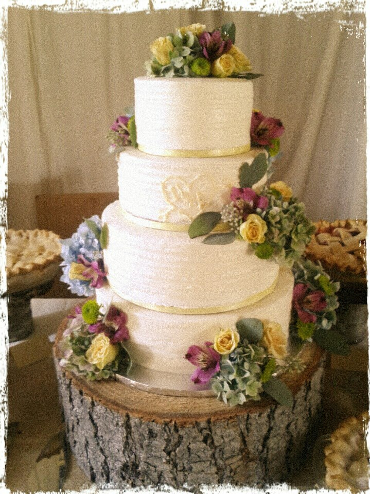 Party Cakes Rustic 4 Tier Wedding Cake