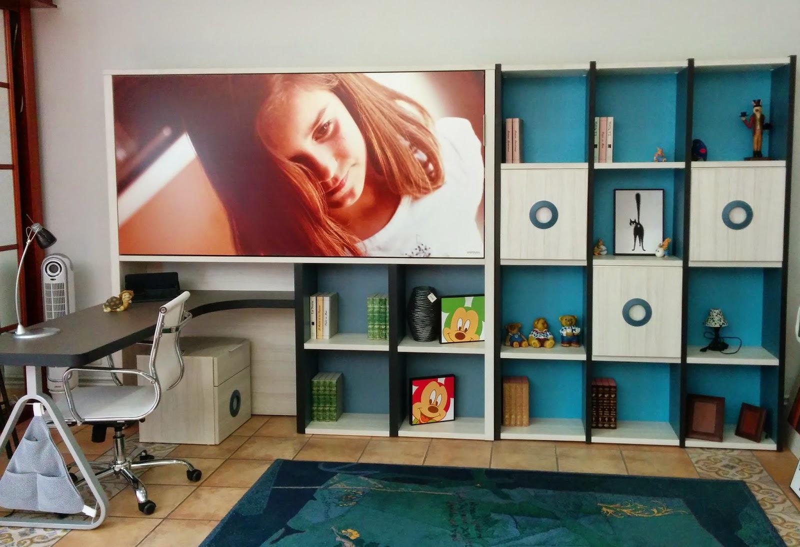 Juvenil con cama abatible horizontal, frente personalizable. Colores ...