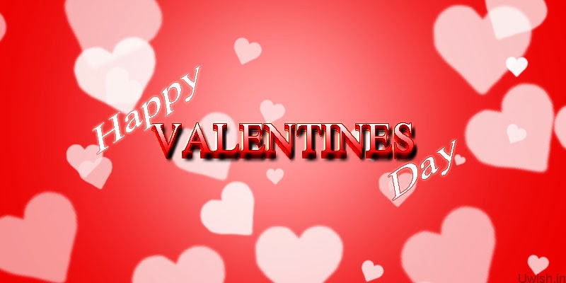 Happy Valentines Day greetings and wishes with hearts