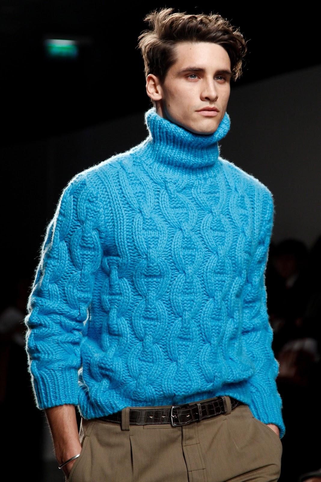 свитер мужской косами схема вязания 44-46 р.