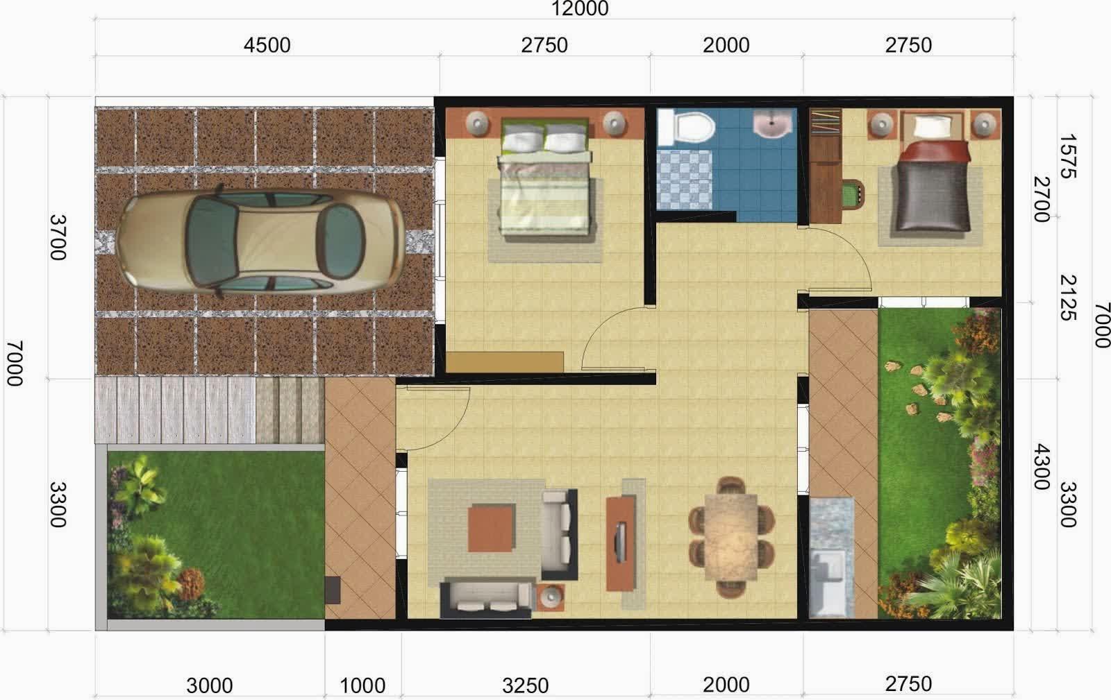 Desain Rumah Minimalis Modern Denah Dan Desain Rumah Type 45
