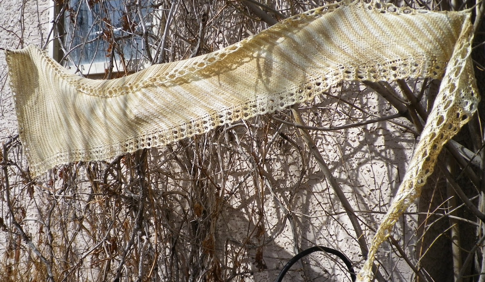Sixty Bushels Shawlette on Virginia Creeper - Crescent Moon Collective