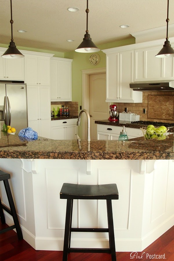 Remodelaholic Wood Kitchen Cabinets Updated To White