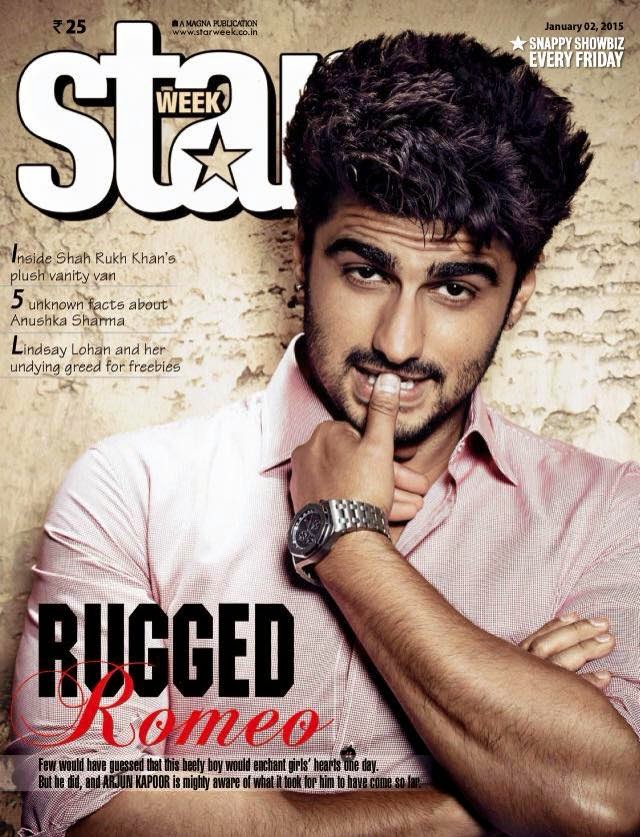 Arjun Kapoor On the cover of Jan 2015's Star Week