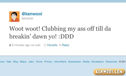 clubbing tweet