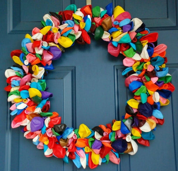 Guirnalda para puerta de globos de colores