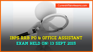 IBPS RRB 13 September 2015 Questions