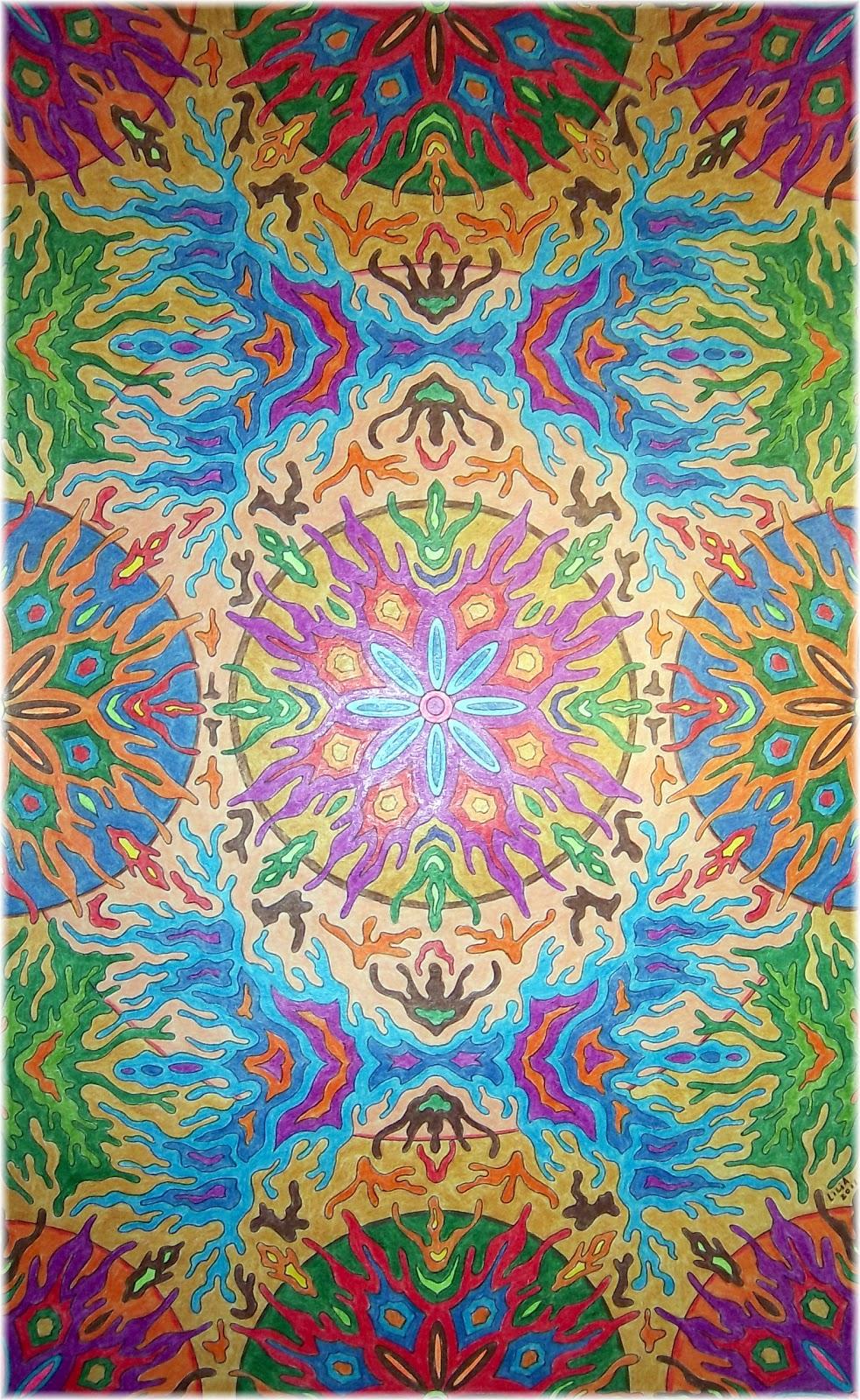 El delirio del lirium de colores mandala - Colores para mandalas ...