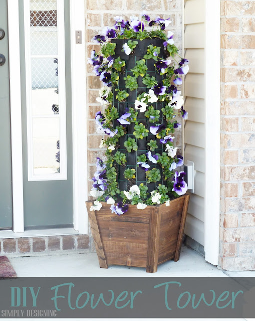 DIY Flower Tower, Home Depot #sponsored #digin #heartoutdoors #spring
