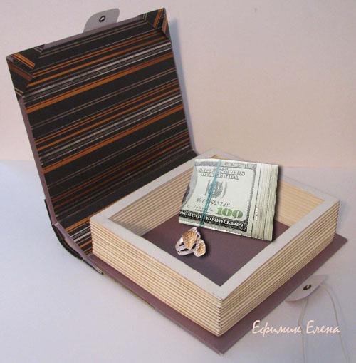 Шкатулка книга из картона своими руками мастер класс