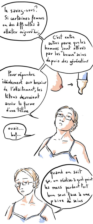 l'évolution des tétons