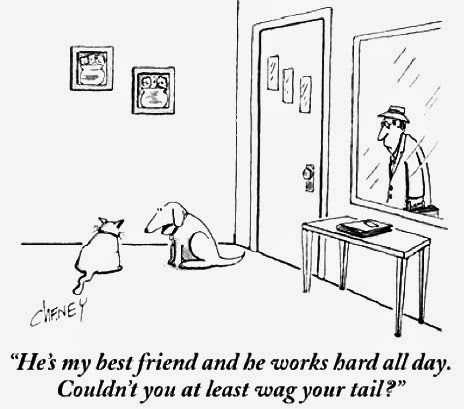 Dog Tail Humor Cartoon