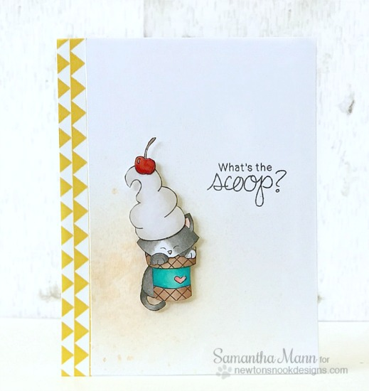 What's the Scoop? Ice Cream Cat card by Samantha Mann | Stamps by Newton's Nook Designs