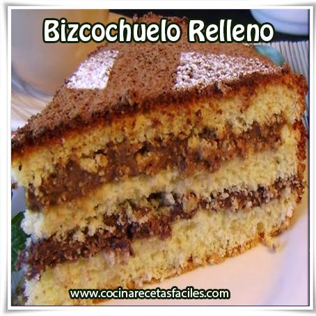 Receta de tortas y pasteles, receta de bizcochuelo relleno
