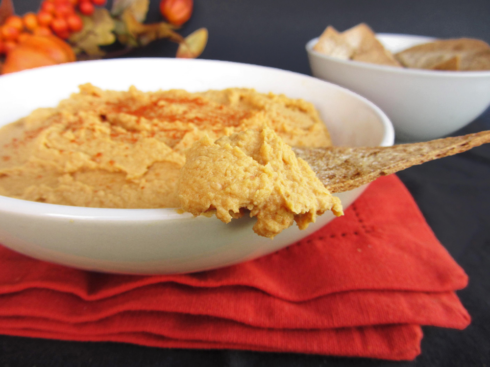 ... Week Day 2 - Spicy Pumpkin Hummus | Once Upon a Cutting Board