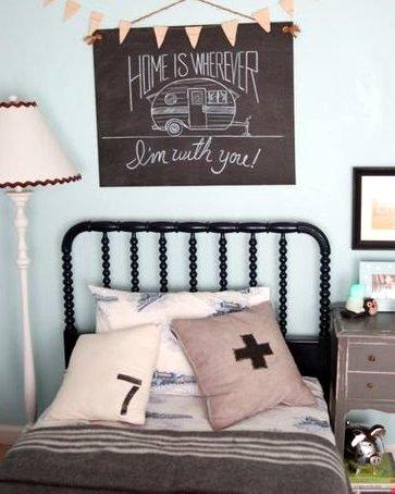 retro cowboy bedroom