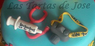 Tarta enfermero y fotografo. Las Tartas de Jose. Castellón.