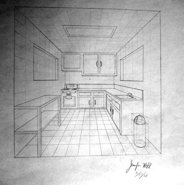 Dibujarte tema 8a perspectiva c nica frontal for Exterior un punto de fuga