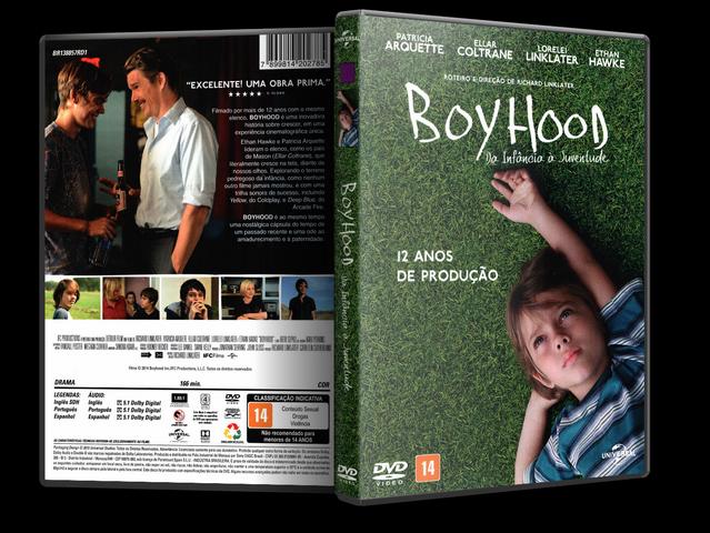 Capa DVD Boyhood Da Infância À Juventude