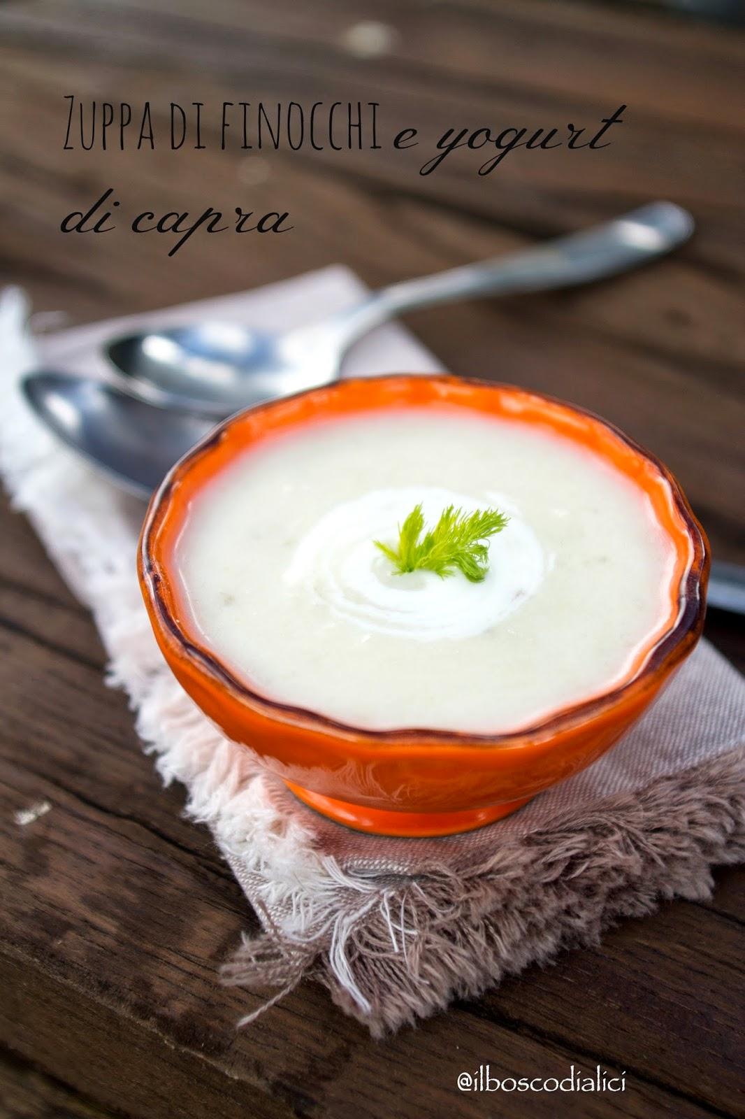 zuppa di finocchi e yogurt di capra