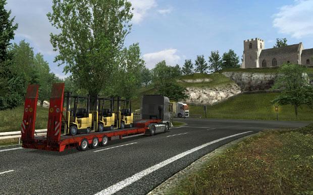 لعبة قيادة الشاحنات ونقل البضائع UK Truck Simulator
