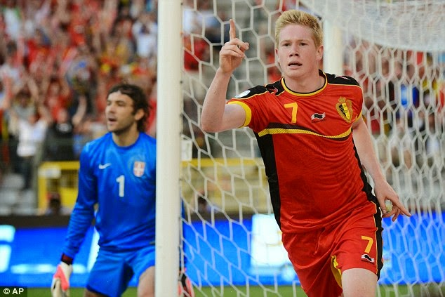 Kevin De Bruyne (Belgium) best players to Watch at FIFA World Cup 2014