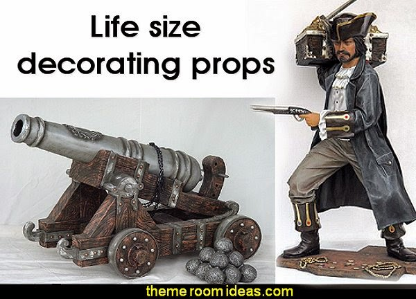 Life size decorating props pirate themed