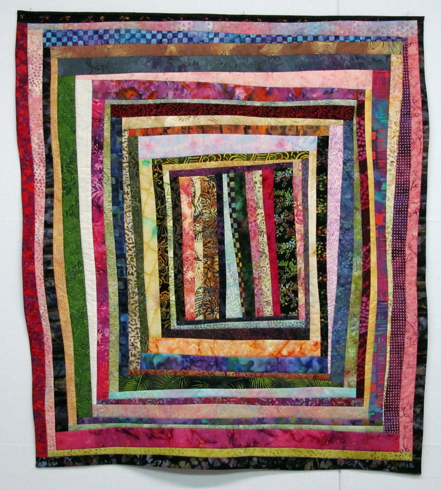 Exuberant Mix Of Colors And Patterns: Exuberant Color : Quilts Pieced With Uneven Width Strips
