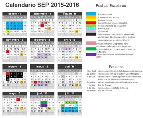 Feriados Escolares 2015 - 2016 en México ~ Feriados y Asuetos 2017