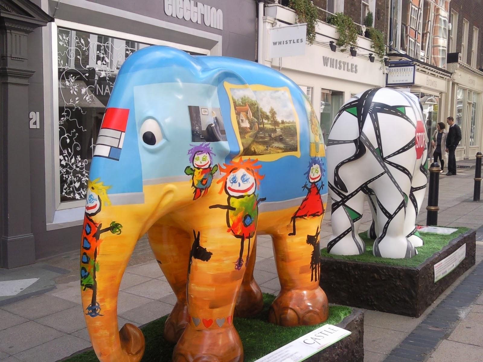 Elephants in South Molton Street