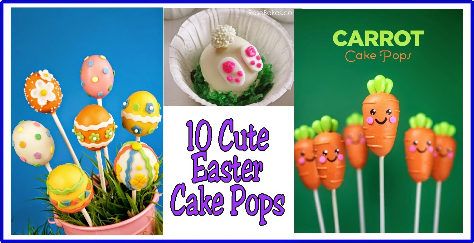 10 Cute Easter Cake Pops by Kandy Kreations