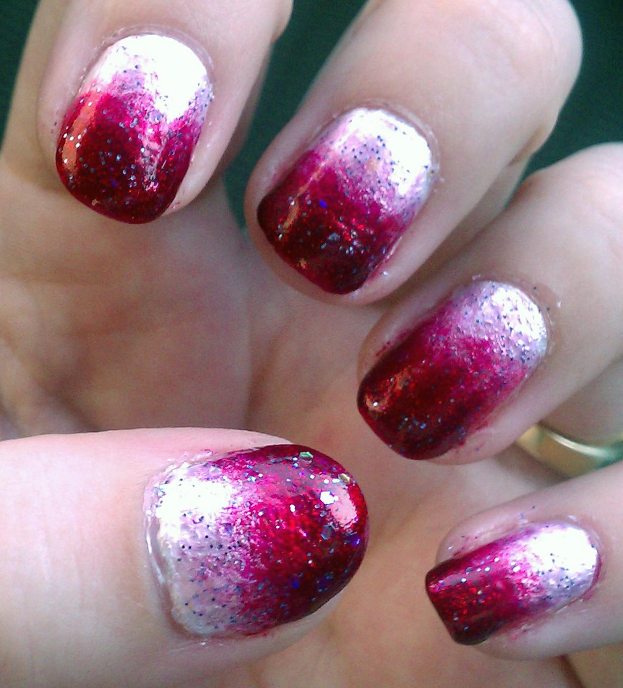 Cute pink nail designs love