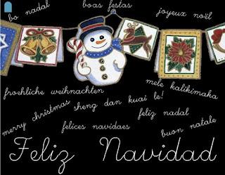Un muñeco de nieve fondo negro y feliz navidad