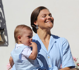 Crown Princess Victoria and Prince Oscar at Solliden, July 2017