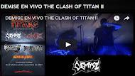 DEMISE en vivo Clash of titan 2017